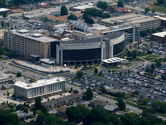 Mercy Hospital from the air on Friday, June 9, 2018.