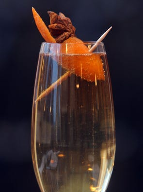 The Buffet de la Gare cocktail at Saint George Bistro in Hastings-on-Hudson. The drink is named after the restaurant that proceeded Saint George Bistro.