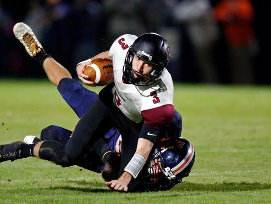 Davidson Academy quarterback Stone Norton