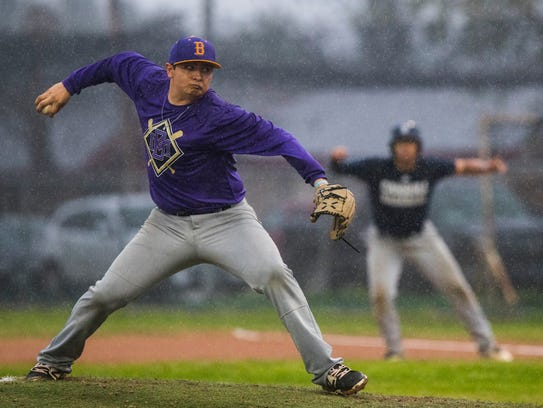 Miller's Joshua Vasquez pitches against Carroll during