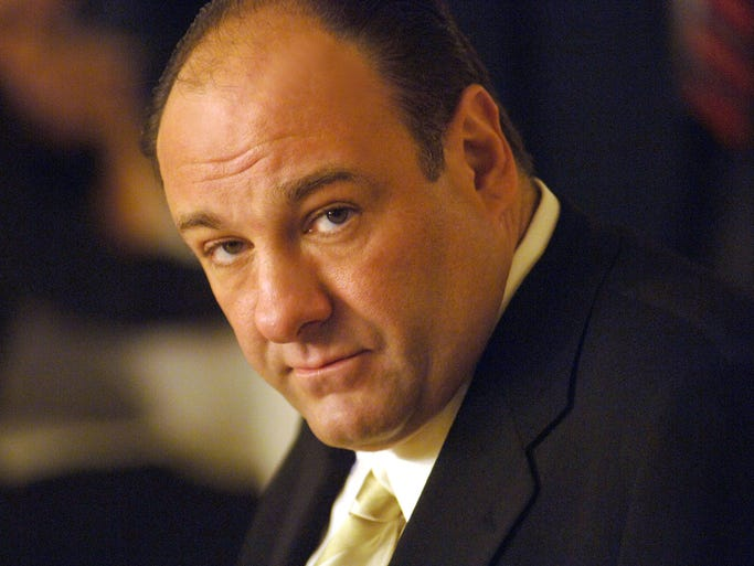"""Actor James Gandolfini, who played Tony Soprano, head of a New Jersey crime family on HBO's """"The Sopranos,"""" died June 19 in Italy. He was 51."""