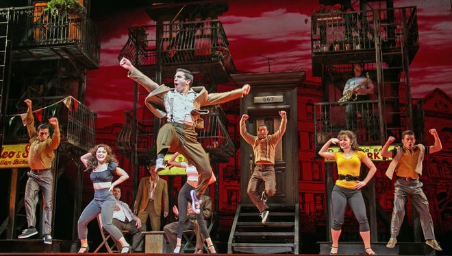 "The company of ""A Bronx Tale: The Musical"" at Paper Mill Playhouse."