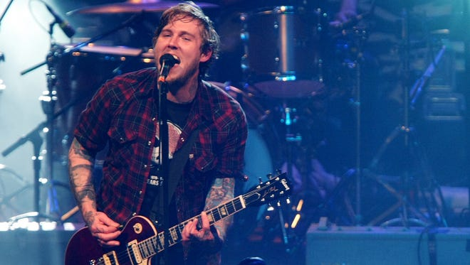 Brian Fallon performing with The Gaslight Anthem at Convention Hall in  Asbury Park in 2011.