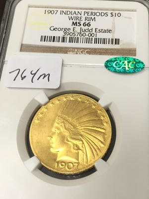 This 1907 coin is one of the auction's highlights.