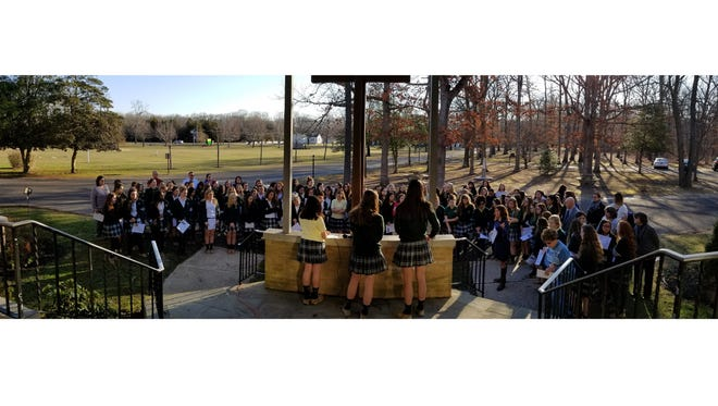 In a show of support for the victims of the school shooting in Parkland, Fla., Our Lady of Mercy Academy students put prayer to work during a special service held on March 14.