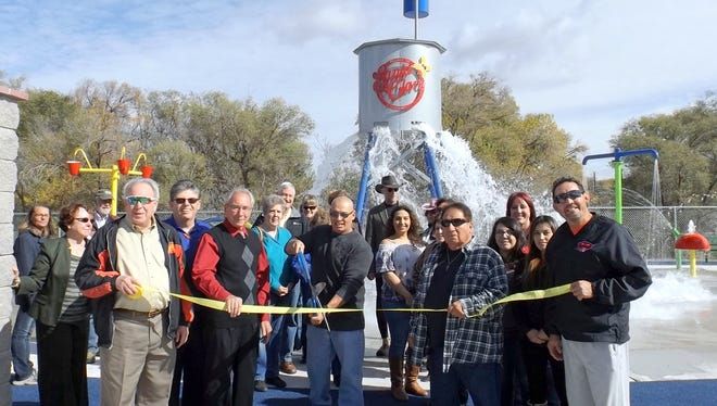 The Village of Santa Clara holds a ribbon cutting ceremony for its Splash Park.