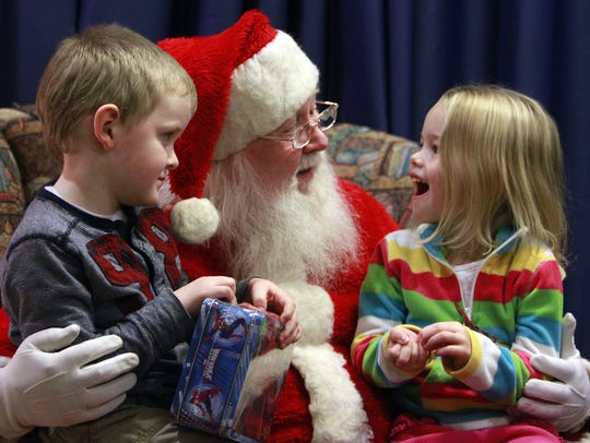 Kids tell Santa what they want for Christmas during