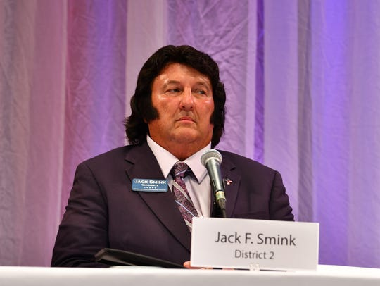 Candidate Jack Smink at the forum. Florida Today candidate