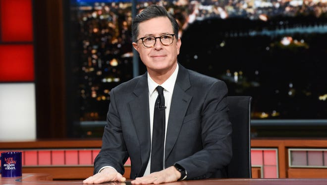 'Late Show' host Stephen Colbert addressed last week's shooting in Parkland Fla. on his program Tuesday.