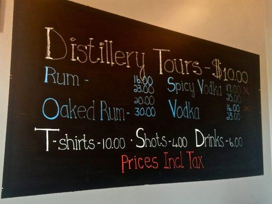 The tasting room at Skunktown Distillery.