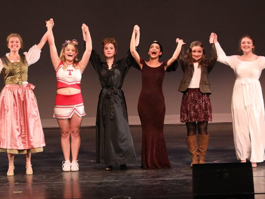 The Actresses in a Leading role take a bow at the 20th