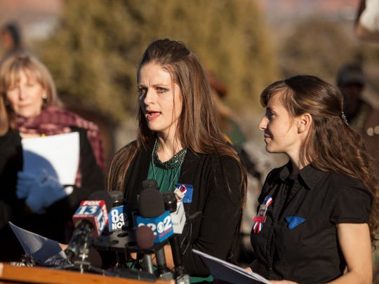 """The two oldest daughters of Robert """"LaVoy"""" Finicum"""