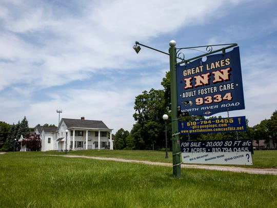 The former Great Lakes Inn, 9334 River Road in Clay Township. The building owner, Earl Stilson, is working to develop the property into a drug rehabilitation center.
