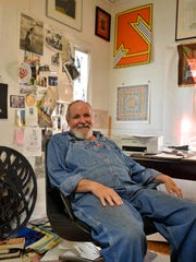Duncan Stewart, in his shot-gun house studio on Strong