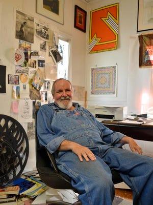 Duncan Stewart, in his shot-gun house studio on Strong Street, in 2012.