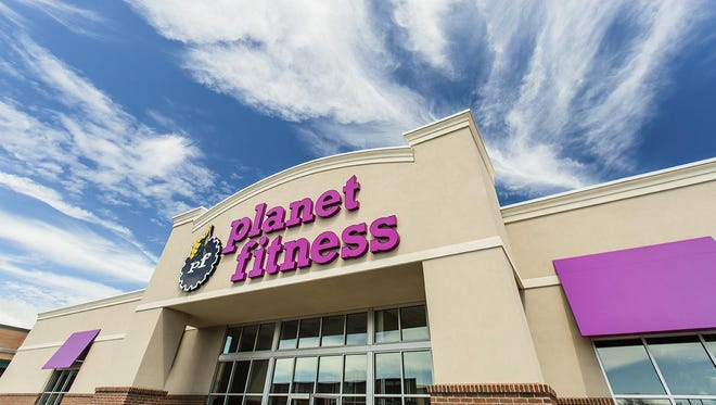 Exterior design for Planet Fitness gyms.