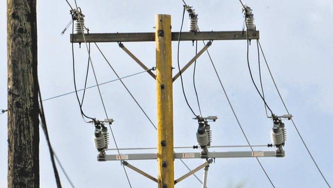File art of NV Energy power lines.