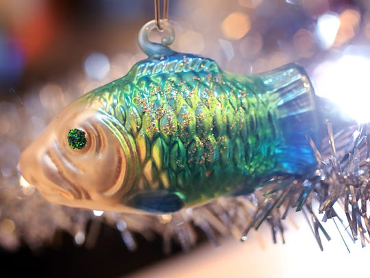 From the Liz Biro collection: A little fish holiday ornament.