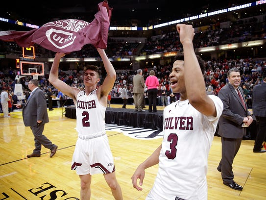 Culver Academies Eagles Henry Zehner (2) and  Ethan