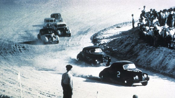 Before Daytona International Speedway opened in 1959, cars raced on the Florida beach.