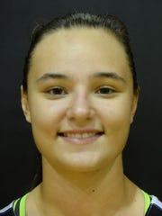 Freshman Maddie Lawrence, 5-11
