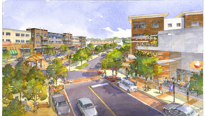 An artist's rendering of The District at Deerfield, a new mixed-use development planned for Deerfield Township