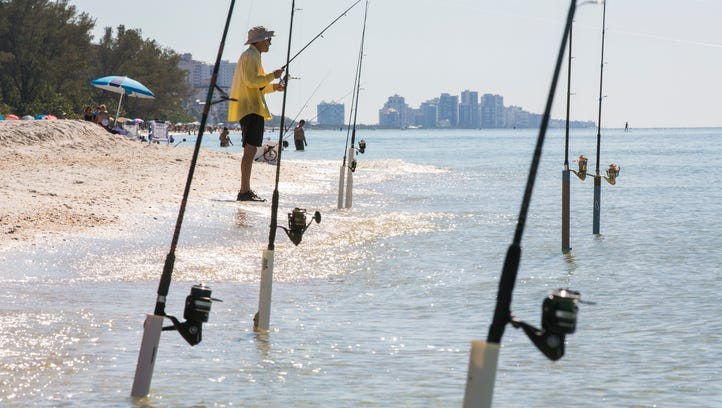 Bob Partlow of Estero spends the afternoon shore fishing