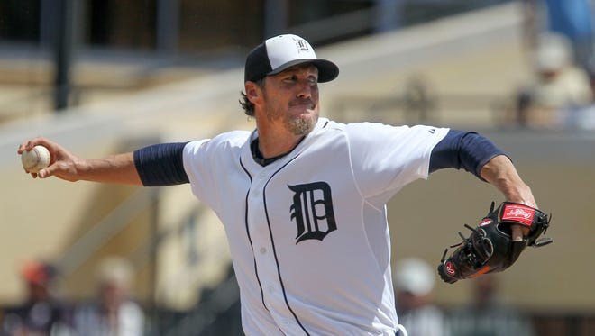 Detroit Tigers relief pitcher Joe Nathan on March 14, 2015.