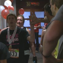 About 1,200 people climbed St. Louis' tallest building, the Metropolitan Square, to benefit the American Lung Association Saturday. Each participant raised a minimum of $100 to help prevent lung disease.