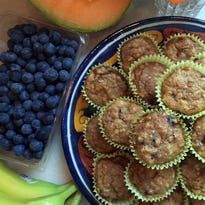 Mornin' Max Muffins with fresh fruit