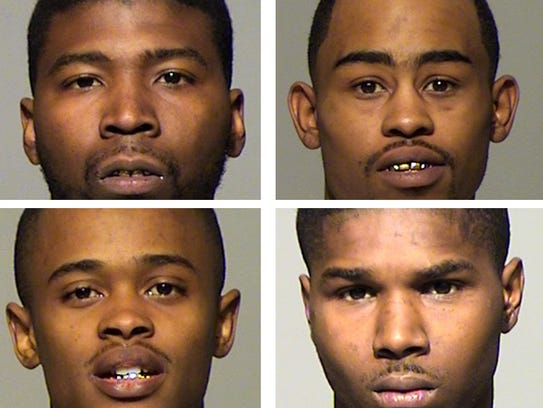 The four defendants, Rashawn Smith, Errion Green-Brown,