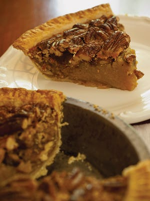 """Sorghum & Bourbon Pecan Pie is featured in """"Sorghum's Savor,"""" the new cookbook by food writer Ronni Lundy"""