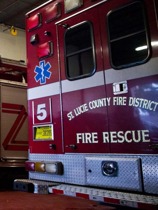 NOT FOR PRINT wreck accident fire 0329-2016 St. Lucie County Fire Rescue ambulance