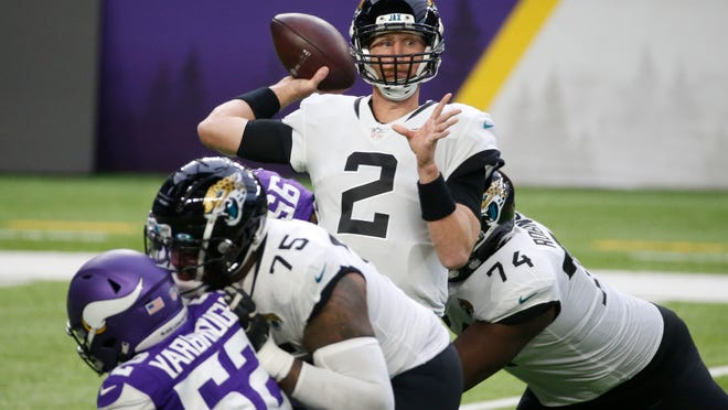 Mike Glennon will remain the starter for the Jaguars on Sunday at home against Tennessee.