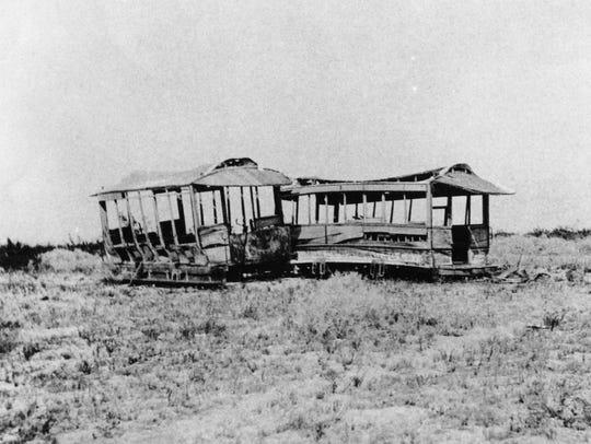 Narrow gauge railroad passenger cars.