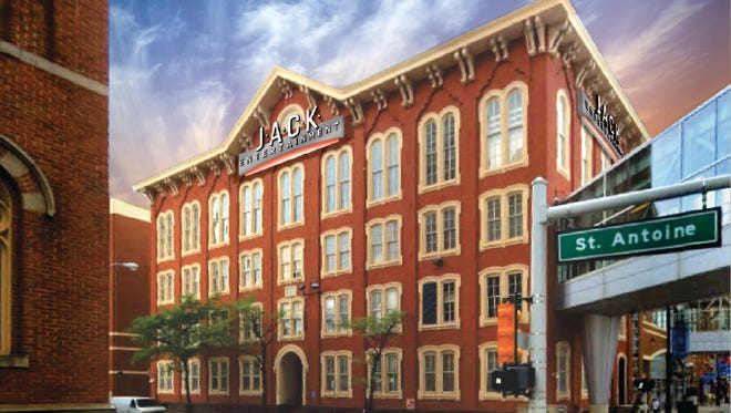 An image of the old St. Mary's School in Detroit's Greektown as the future headquarters for JACK Entertainment