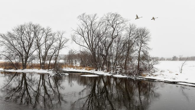 The City of St. Joseph acquired about 94 acres of land along the Sauk River to create a park shown Tuesday, March 20, where Stearns County Road 121 crosses the Sauk River.