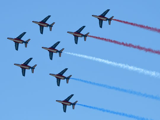 Patrouille De France performs.
