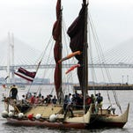 In this 2007 file photo, Hawaiian ship Hokulea sails into Yokohama port, near Tokyo, Japan.