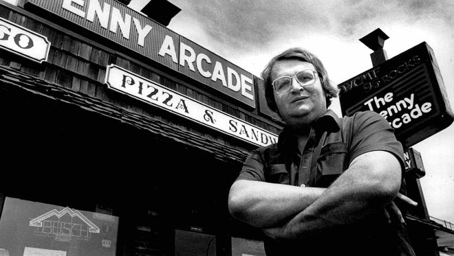Greg Sullivan stands outside the Penny Arcade on Lake Avenue in 1985.