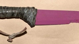 One of the knives used in the deadly London Bridge attack. This photo was provided by police, who are asking the public's help in identifying where the knives may have come from.