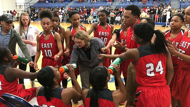 East Nashville girls coach Lois Donaldson will attempt to lead the Lady Eagles to their second straight Class AA state championship this week.