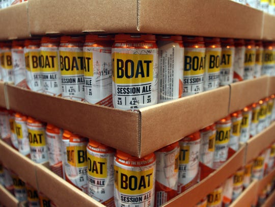 Cases of Carton Brewing Co's Boat Session Ale.