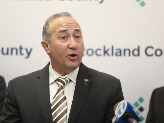 Rockland County Deputy County Executive Guillermo Rosa speaks during a press conference on Friday, September 8, 2017 at the Allison-Parris county office building in New City.