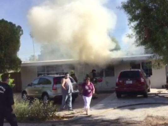 House fire displaces two