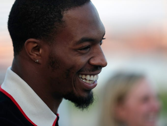Green Bay Packers safety Haha Clinton-Dix laughs during