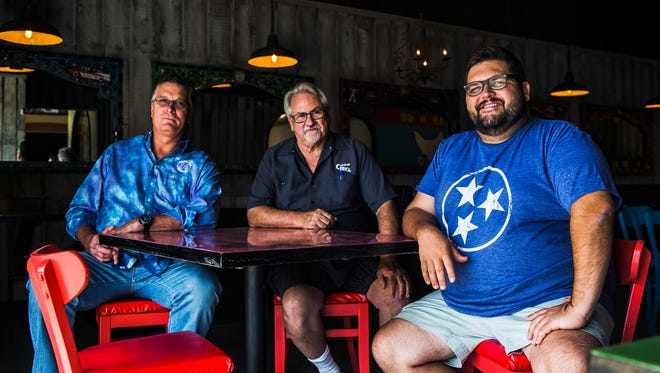 October 4, 2017 - (Left to right) - Craig Blondis, Roger Sapp and Ryan Trimm are the owners of Sunrise Memphis, a new restaurant serving breakfast and lunch, located at 670 Jefferson Ave. The dining establishment will open in a couple of weeks.