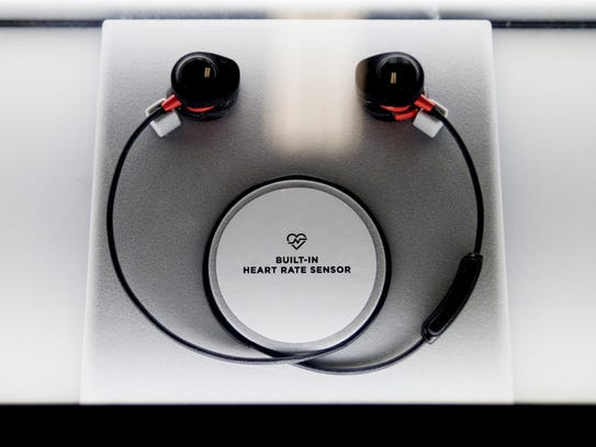Smart headphones are seen for sale at Best Buy in West