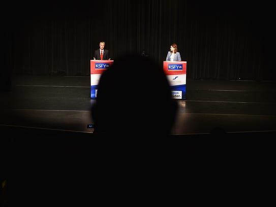 GOP gubernatorial candidates Marty Jackley and Kristi