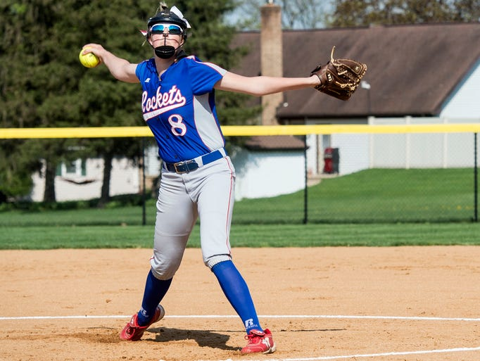 Spring Grove pitcher Hailey Kessinger fires a pitch